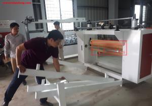 Bàn giao máy dán màng bọc cửa cho đơn vị bạn tại Phúc Thọ, Hà Nội