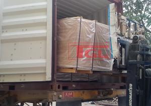 Bàn giao đơn hàng tấm da cửa HDF 1 Pano tại Hưng Yên.