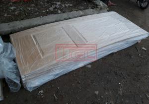 Tấm da cửa HDF 2 Pano Veneer Ash mẫu cho đơn vị sản xuất tại Đà Nẵng