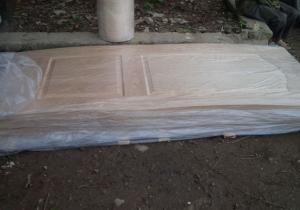 Bàn giao đơn hàng tấm da cửa 2 Pano phủ veneer Ash - Tần bì cho đơn vị sản xuất cửa gỗ công nghiệp tại Thanh Oai, Hà Nội.